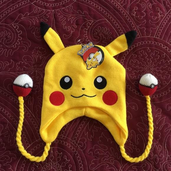 4378a986e3b Pikachu knit hat